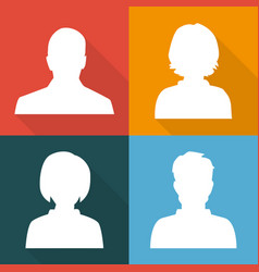 silhouettes of men and women on different colored vector image