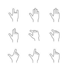Smartphones gesture icons vector image