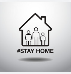 stay home social distancing concept sign icon vector image