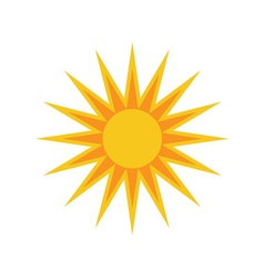 Sun icon white background isolated sign vector image