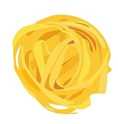 Tagliatelle pasta vector image vector image
