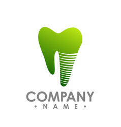tooth implant logo icon tooth implant logo vector image