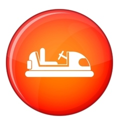 Toy car icon flat style vector