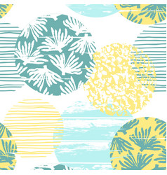 trendy sea seamless pattern with hand texture and vector image