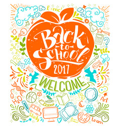 Vertical back to school poster vector