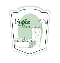 Vodka and beer concept vector