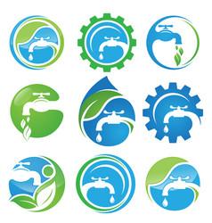 water plumbing vector image