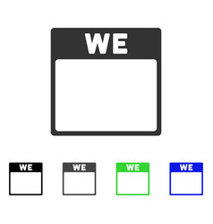 Wednesday calendar page flat icon vector