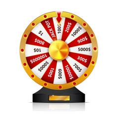 Wheel of fortune isolated object on white vector