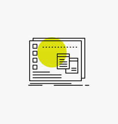 Window mac operational os program line icon vector