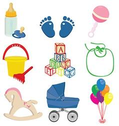 Baby set vector image