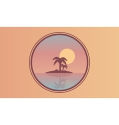Beautiful landscape islands at sunset of vector image vector image
