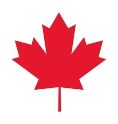 canada flag maple leaf icon vector image