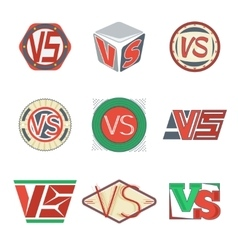 Color versus logos VS letters signs vector image vector image