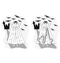 Easy vampire maze vector image
