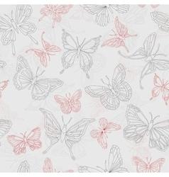 Set geometric shapes butterflies vector image