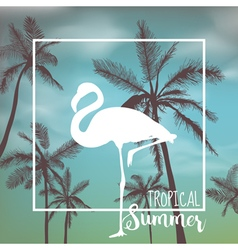 Tropical Background Palm Leaves Palms vector image vector image