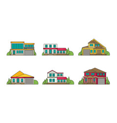 flat buildings vector image