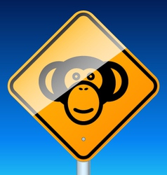 monkey on road vector image vector image