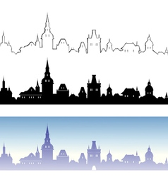 Old town design elements vector image