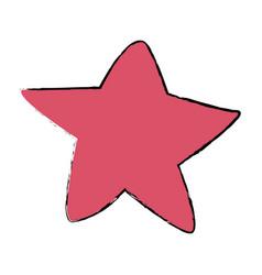 pink star fish sea animal wild icon vector image vector image