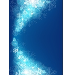Starry Xmas Background vector image vector image