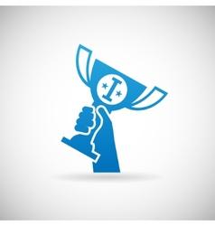 Success Achievement Symbol Hand Raises Prize Award vector image vector image