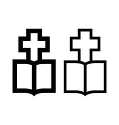 Cross-Bible vector image