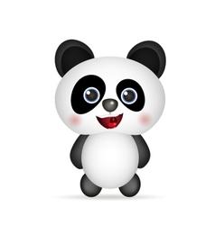cute Panda smiling vector image vector image