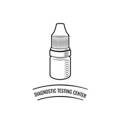 drop bottle diagnostic testing center lettering vector image