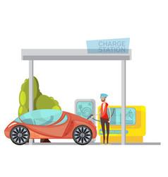 electro car flat vector image vector image