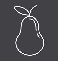 pear line icon fruit and diet graphic vector image