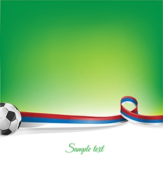 russian background with soccer ball vector image