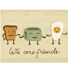 Breakfast Friends vector image