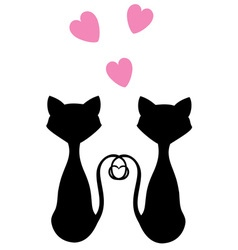 cats pink vector image
