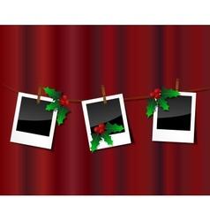 Christmas photo scrapebook vector image vector image