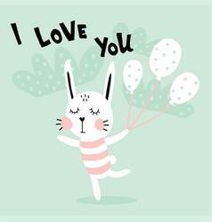 dancing rabbit vector image vector image