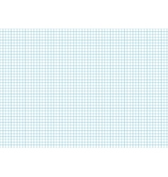 Five millimeters cyan grid on a4 horizontal sheet vector image vector image