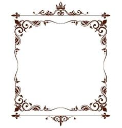 Geraldic royal fleur de lys ornate frame vector image