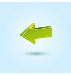 Green back arrow icon vector image vector image