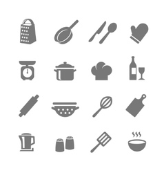 Set of kitchen and cooking icons vector image vector image