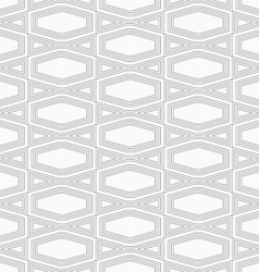 Slim gray squished hexagon with offset vector