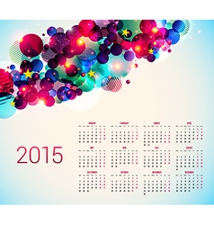2015 year calender abstract background vector
