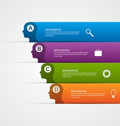 abstract business infographic template for vector image