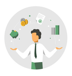 accounter balance finansial icons accounitg and vector image