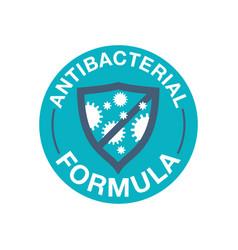Antibacterial formula stamp vector