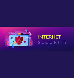 Antivirus software header or footer banner vector