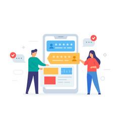 Application design smartphone vector