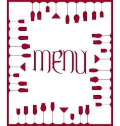 Bar menu background vector image