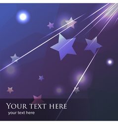 Blue and purple falling star or meteor background vector